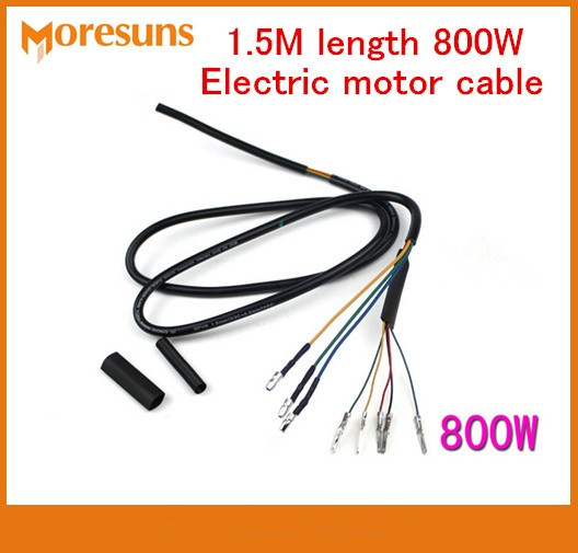 Free Ship 5pcs Electric Motor Cable 1.5M Length 800W Brushless Motor Wire 8 Core High-temperature Copper Wire Electrie Wire Kit