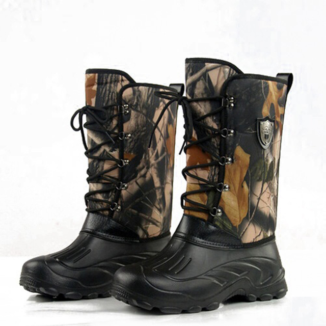 Winter Men Military Hiking Camouflage Fishing Asker Shoes Male Waterproof Snow Ankle Combat Warm Fur Shoes for Men
