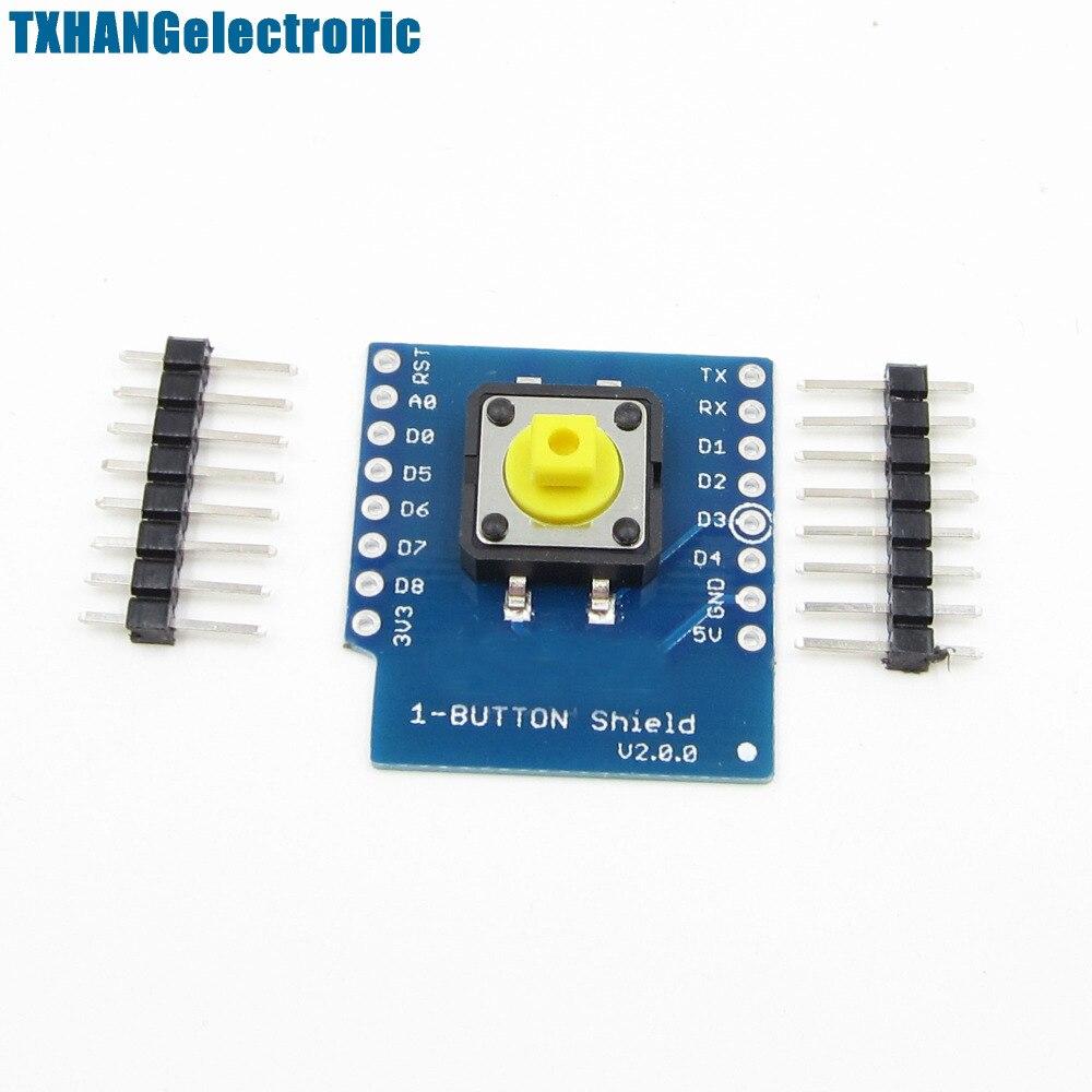 5PCS 1-Button Shield for WeMos D1 mini button