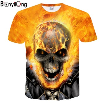 583c9bd9f0c 2018 Camiseta Hombre nueva Unisex calavera impresa 3D Camiseta cuello  redondo manga corta verano moda Casual marca camiseta talla estadounidense  para hombre