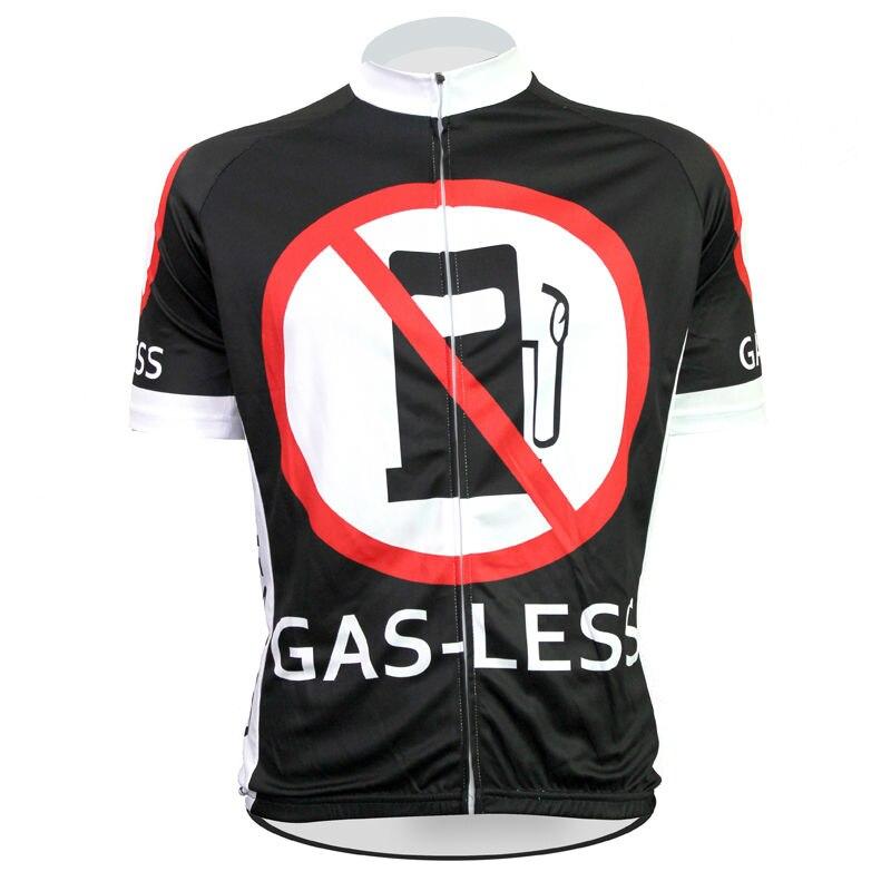 Alien SportsWear GAS-LESS Pattern Men Summer Breathable Bicycle Apparel Full Zipper Cyklistické oblečení s krátkým rukávem Velikost XS-5XL