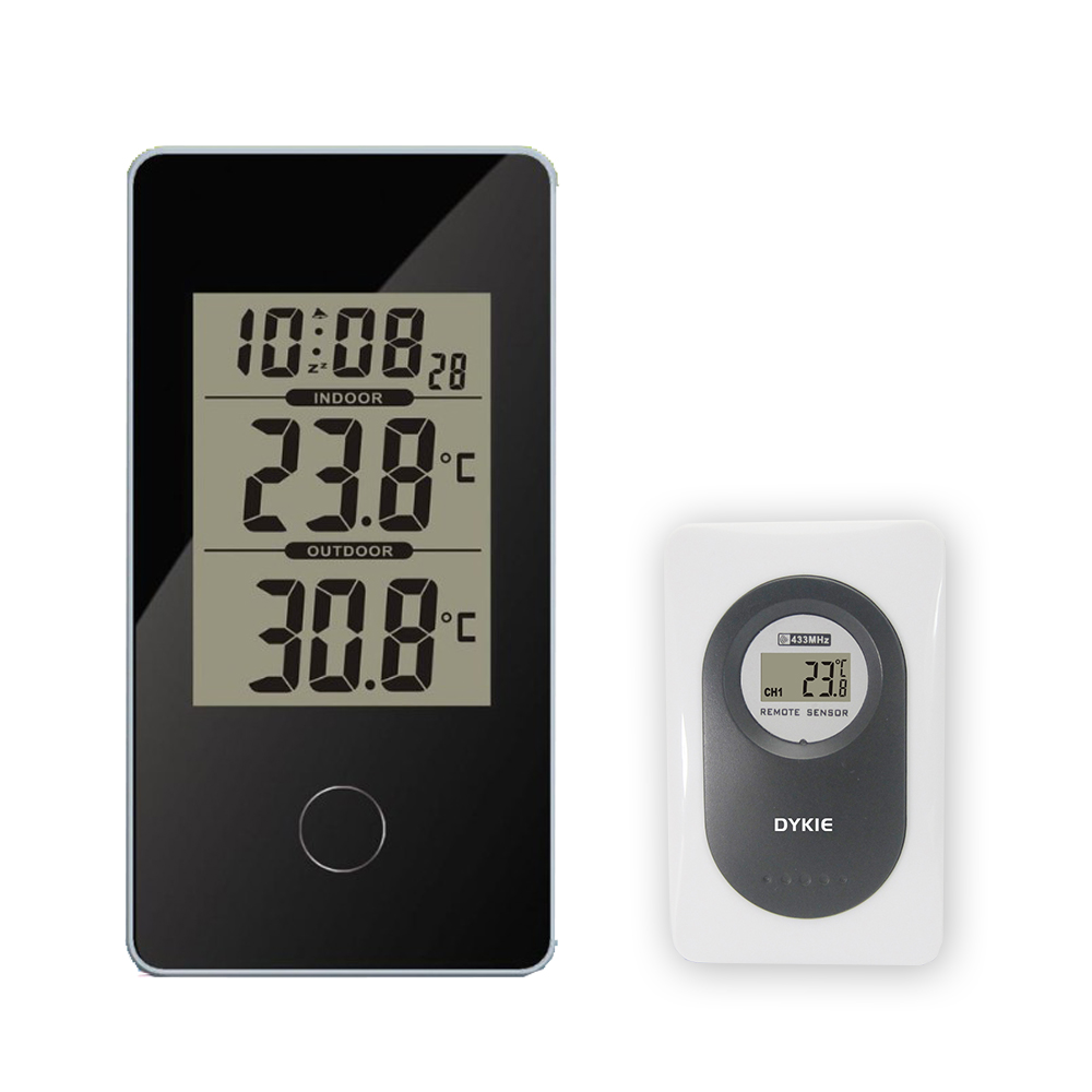 Mouse Over To Zoom In New Arrival Dykie Wireless Weather Station Black With Indoor Outdoor Thermometer Monitor