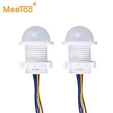 Luz LED nocturna PIR, Sensor de detección de movimiento infrarrojo, Interruptor del Detector para iluminación del hogar, lámpara de noche sensible