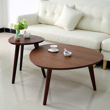 Cafe Tables Cafe Furniture solid wood Triangle coffee table assembly sofa side table minimalist desk hot 43*50cm/60*50cm/78*42cm(China)