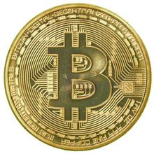 1 x Gold Plated Bitcoin Coin Collectible BTC Coin Art Collection Gift Physical(China)