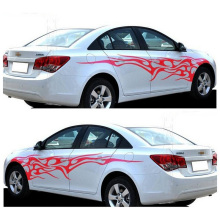 1 Pair Fire Flame Car Stickers and Decals Whole Body Car Vinyl 2.2m Washable Auto Styling Car Accessories 3 Colors 7 7cm 12 2cm 3 crosses with john 3 16 christian jesus car stickers car styling and accessories black sliver c8 1277