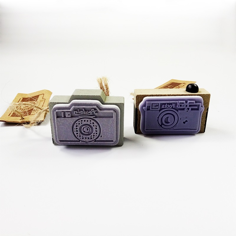 1 Pcs/lot Retro Camera Shape Wooden Stamps For Scrapbooking Paper Notebook Decoration Stamp Gifts For Kids