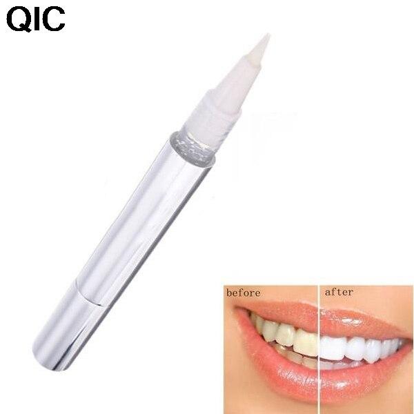 Qic серебристый белый Отбеливание зубов Pen Зубная паста отбеливателя Bleach удалить Красители Гигиена полости рта 1 шт.