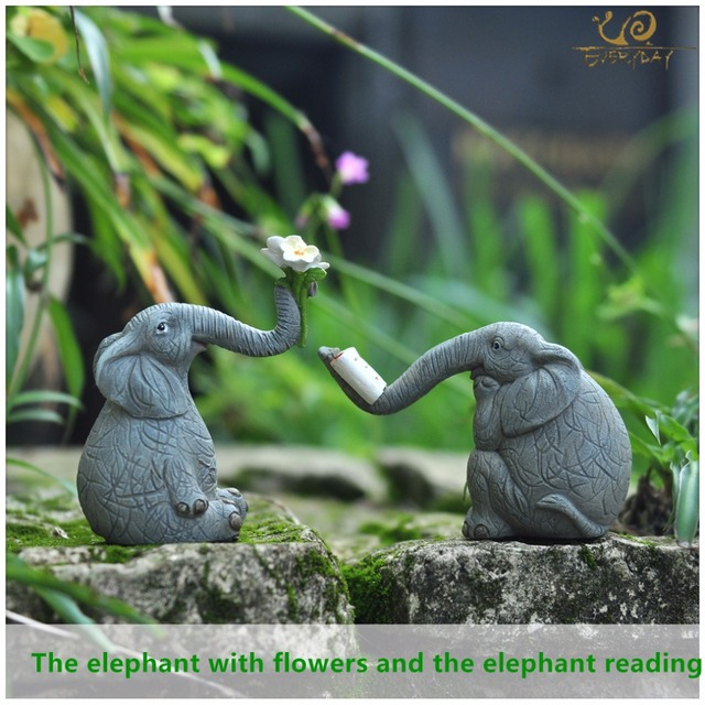 Everyday Collection Fairy Garden Resin Craft Decorates Indoor Small  Sculpture Lovely Asian DIY Elephant