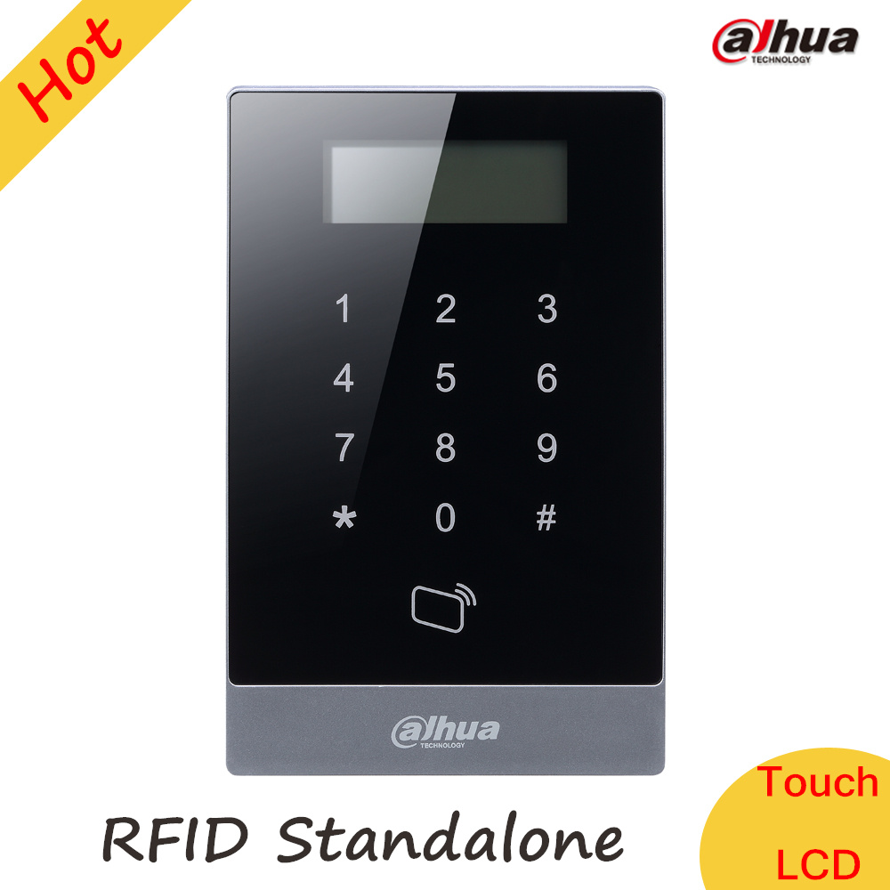 Dahua Keypad RFID Access Control System Proximity Card Standalone Support 30,000 valid cards & 150,000 records ASI1201A-D metal rfid em card reader ip68 waterproof metal standalone door lock access control system with keypad 2000 card users capacity