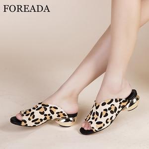 FOREADA Women Shoes Summer Sli