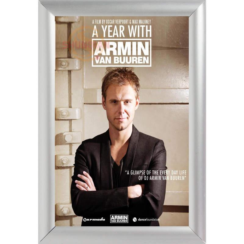 Silver Color Aluminum Alloy poster Frame Home Decor Custom Canvas Frame Armin van Buuren Canvas Poster Frame F170112#75