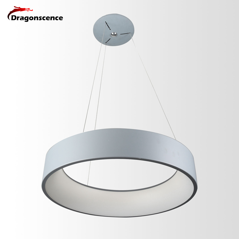 Dragonscence Round circle Chandeliers Aluminum Modern Led Chandelier lamp for living room bedroom dining office meeting