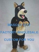 Yüksek kaliteli doberman köpek maskot kostüm karikatür karakter yetişkin köpek mascota kıyafet suit fantezi dress parti karnaval sw713