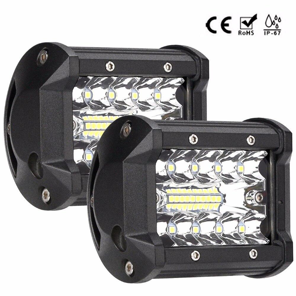 4 pouces 60 w LED LAMPE de travail bar combo faisceau de voiture lumières de Conduite pour Hors Route Toyota 4WD 4x4 UAZ moto rampe 12 v 24 v auto brouillard lampe