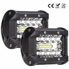 4 дюймов 60 Вт светодиодный свет работы бар combo Луч Автомобильные фары дальнего света для внедорожных Toyota 4WD 4×4 УАЗ рампа мотоцикла 12 В 24 Авто Туман лампа