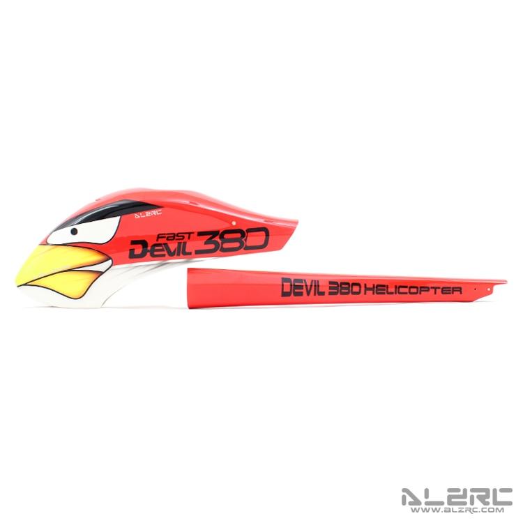 ALZRC - Devil 380 FAST glass fiber painted shell /S-A set alzrc devil 380 fast carbon fiber body side plate 1 2mm d380f21 12