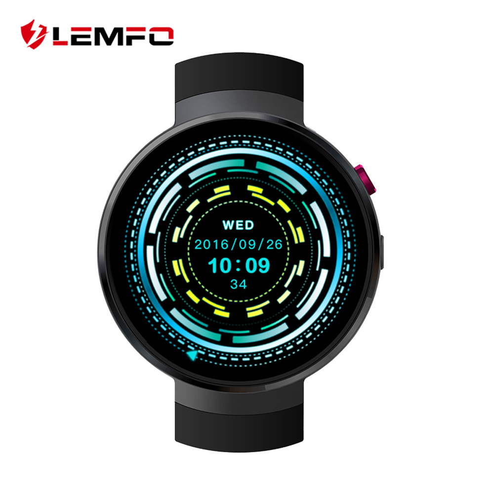 LEMFO LEM7 4g Android 7.0 Montre Smart Watch 1 gb + 16 gb 2MP Caméra GPS 580 mah Batterie Sport entreprise Mode Raduction Outil Smartwatch
