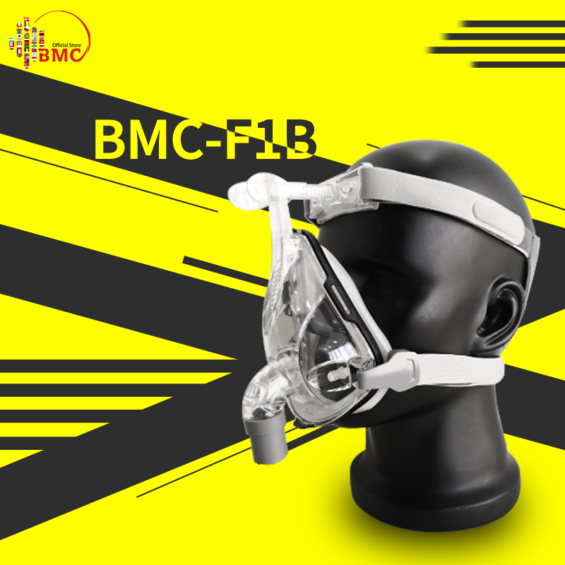 BMC 2019 F1B Full Face Maske Mit Freies Kopfbedeckungen Für CPAP Auto BiPAP Größe S M L Schnarchen Therapie Interface freies Verschiffen-in Schlafen & Schnarchen aus Haar & Kosmetik bei  Gruppe 1