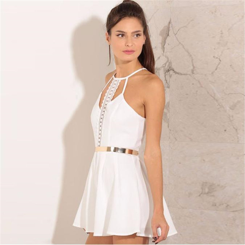 2627ce3aaa3 Women Lady Clubwear Lace Halter Sling Vest Strap Playsuit Loose Floral  Party Jumpsuit Romper Trousers With Blet Woman Clothes 50