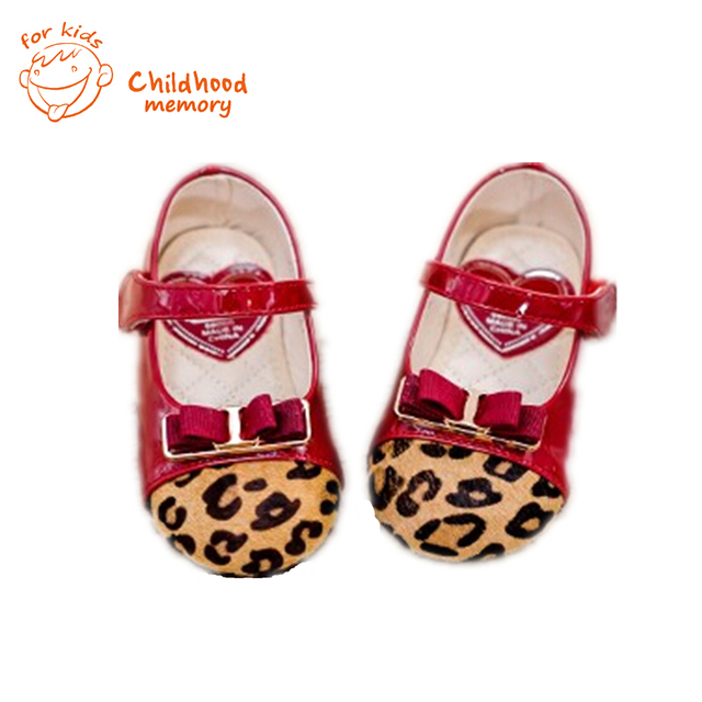 Leopard Baby Girls Leather Shoes European American Style Spring Shoes For Baby  Girl Bow Princess Single Casual Shoes cbbca6859015