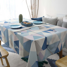 Geometric printed Decorative Table Cloth Modern Rectangle Tablecloth Home Kitchen Cloths Party Banquet Dining Cover