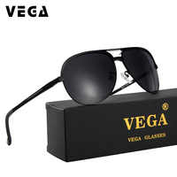 VEGA Aviador militaire lunettes de soleil polarisées classique envelopper marine Air Force lunettes aluminium magnésium alliage 8548