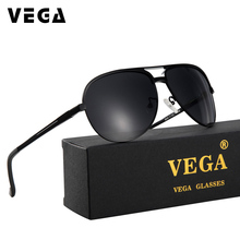 VEGA Aviador Military Polarized Sunglasses Classic Wrap Arou