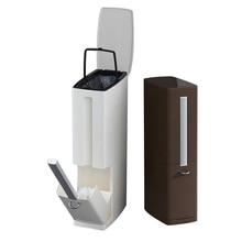 Hot Sale Plastic Trash Can Set with Toilet Brush Bathroom Waste Bin Dustbin Trash Cans Garbage Bucket Garbage Bag Dispenser
