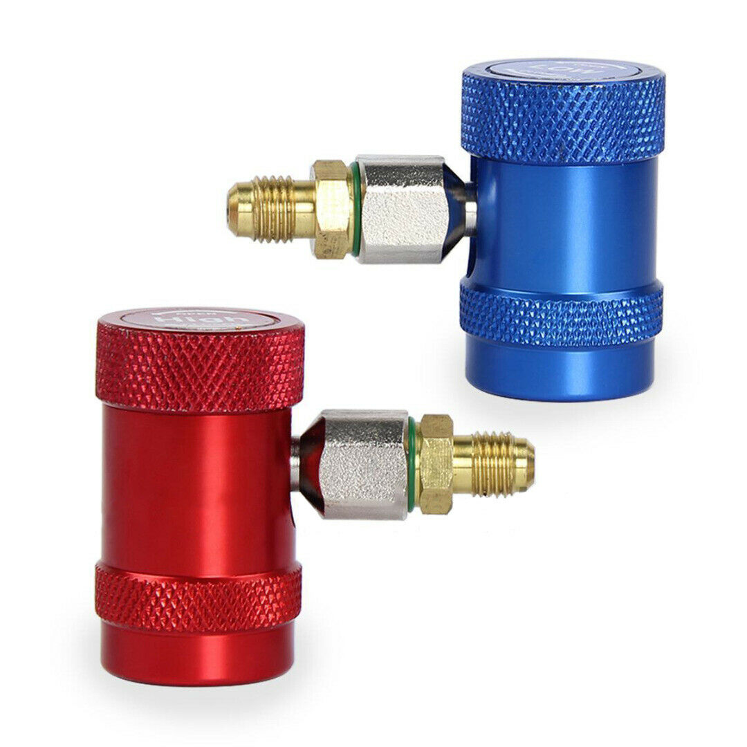 2pcs Brass Metal R1234yf Quick Connector Adapter Air Conditioning Refrigerant Adapter For AR Refrigeration Systems Fluoride in Air conditioning Installation from Automobiles Motorcycles