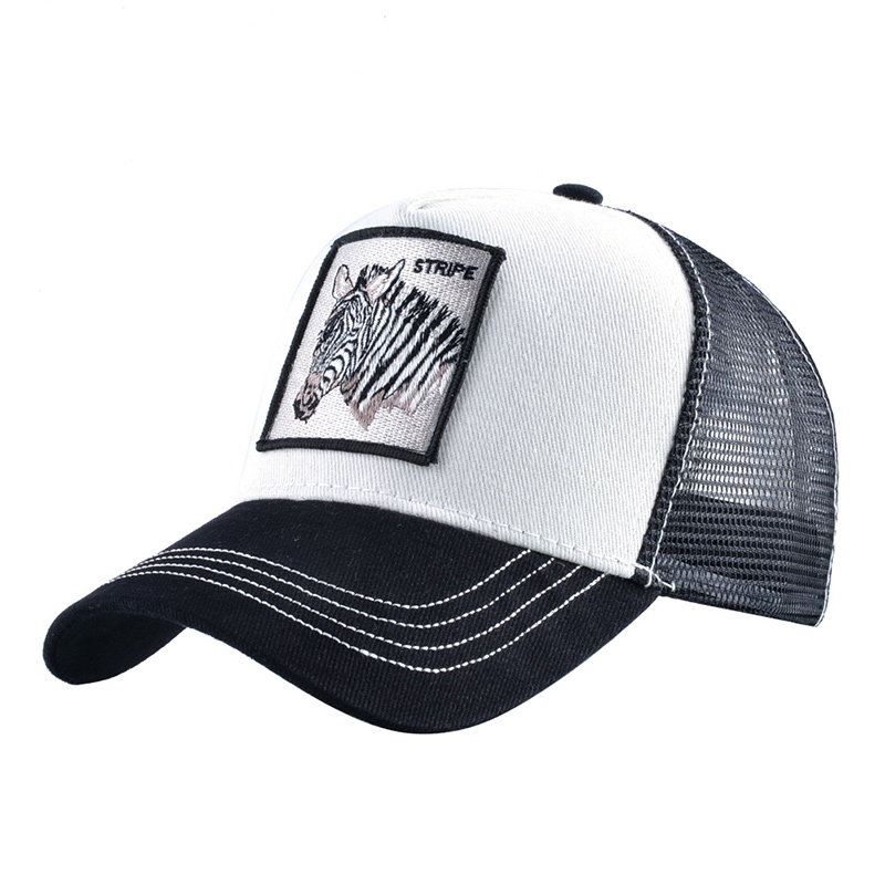 Summer Men Women Animals Horse Embroidery Baseball Caps Snapback Hip Hop Hat Breathable Mesh Sun Gorras Unisex Streetwear Bone|Men