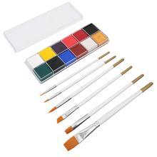 12 цветов Нетоксичная масляная краска Хэллоуин живопись для лица тела макияж набор масляная краска