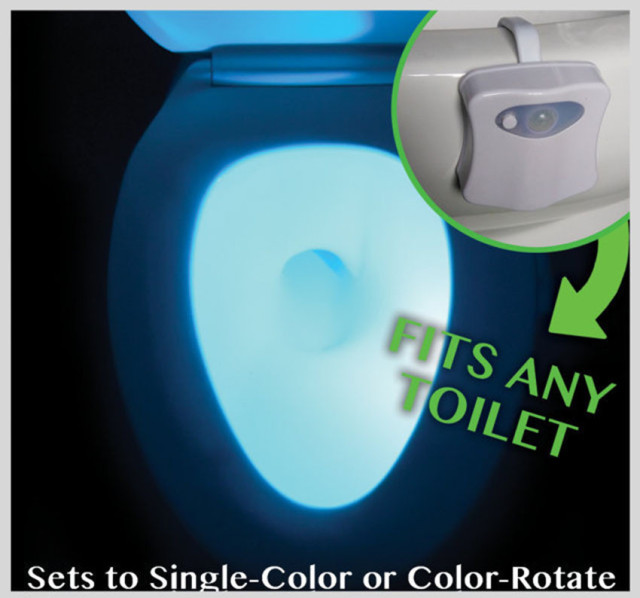 Changing Colors Body Sensitivity Motion Sensor Automatic LED Night Lamp for Toilet Bathroom Light