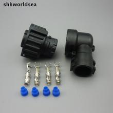shhworldsea 10set 4 Pin 1-967325-3 Auto Sensor plug with sheath for Car connector oil exploration,railway etc,Waterproof IP67/69