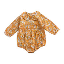 summer baby girl clothes Long Sleeves Floral Fashion spring kids Outfits cotton Romper Leotard Body Tops Adorable Baby Clothing(China)