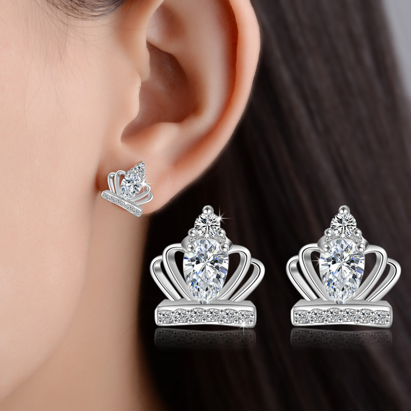 RUOYE New Gold Silver Color Luxury Crystal Women Stud Earring - Fashion Jewelry - Photo 6