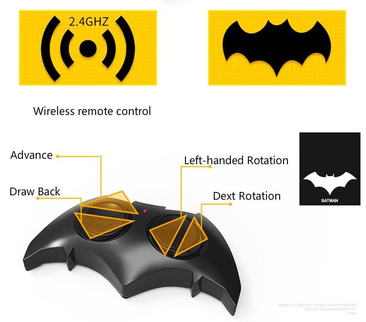Batman Superman Justice League electric Batman RC car childrens toy model (18)
