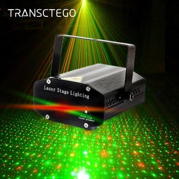 Светодиодный проектор лазерный диско свет мини Авто вспышка RG светодиодная звуковая Лазерная лампа активированная для диско-вечеринки DJ ...