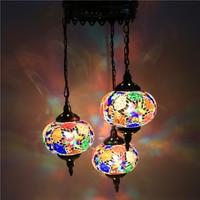 Turkey ethnic customs handmade Mosaic lamp romantic Hotel cafe restaurant bar Pendant light living room balcony stairs
