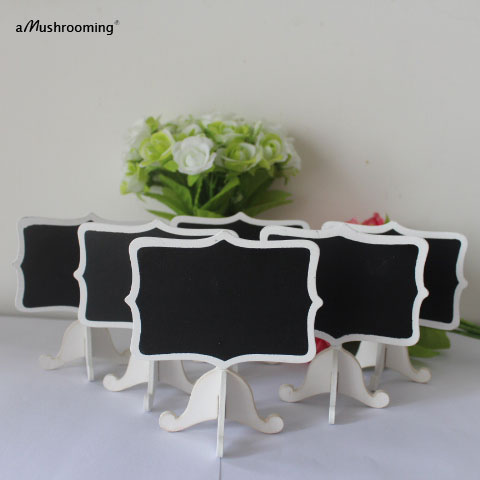 Set Of 12 Pieces Fancy Shield Short Food Label White Wedding Black  Chalkboard Stand Table Number Name Card Buffet Sign Marker In Party DIY  Decorations From ...