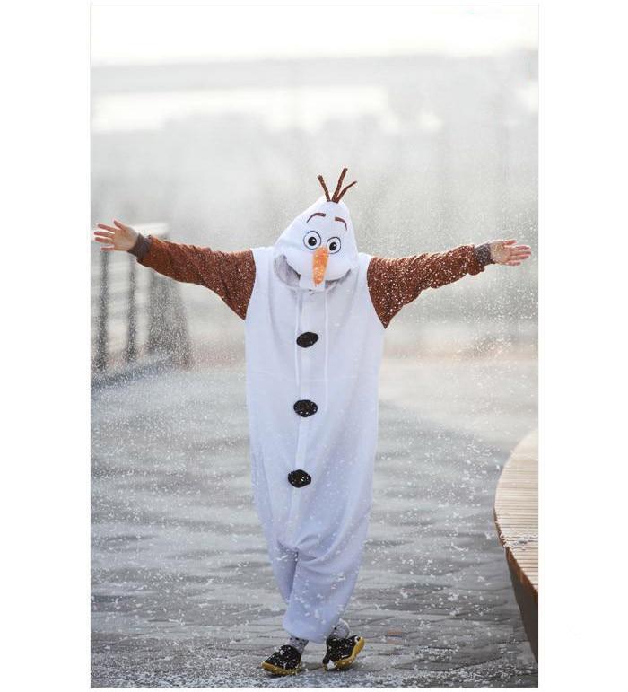 Olaf Cosplay kostiumas suaugusiųjų Oniesie pižama, pagaminta iš - Karnavaliniai kostiumai - Nuotrauka 6