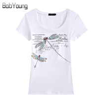 New Women S T Shirt Fashion Slim European And American Style Handmade Dragonfly T Shirt Female