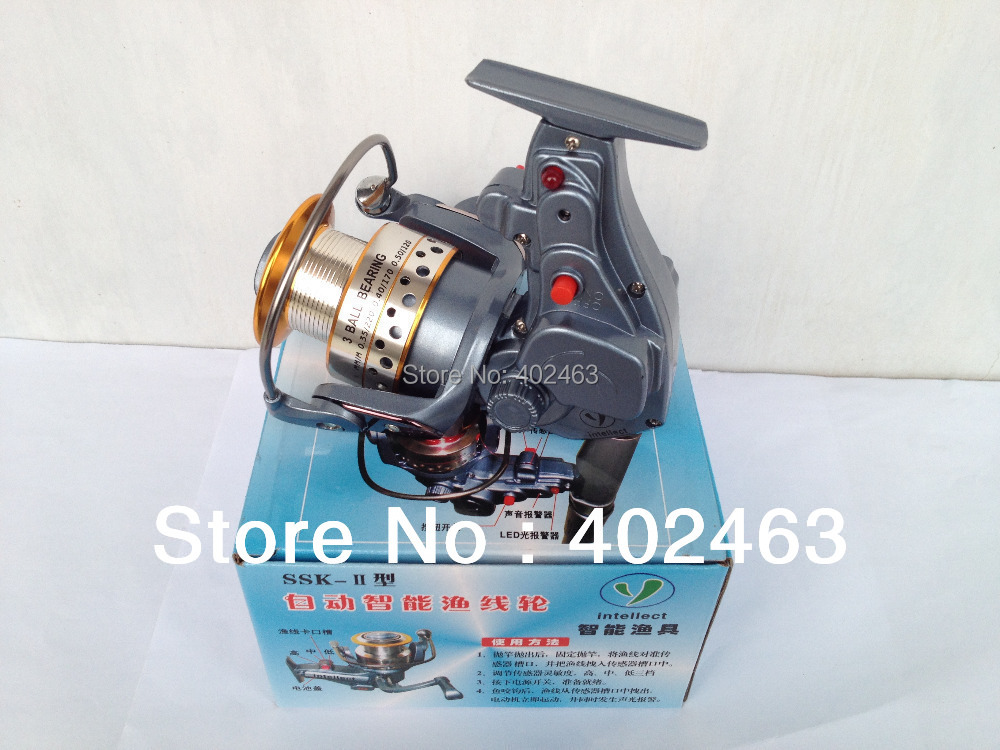 Free shipping new electric automatic spinning reel 1pcs for Automatic fishing reel