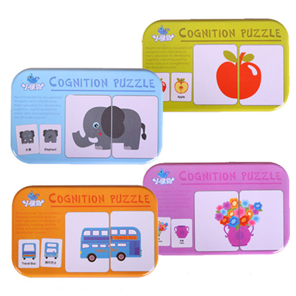 32pcs/Box Baby Learn English Pair Puzzle Montessori Cognitive Card Infant Educational Toys Puzzles For Children Baby Gift целебная натуротерапия