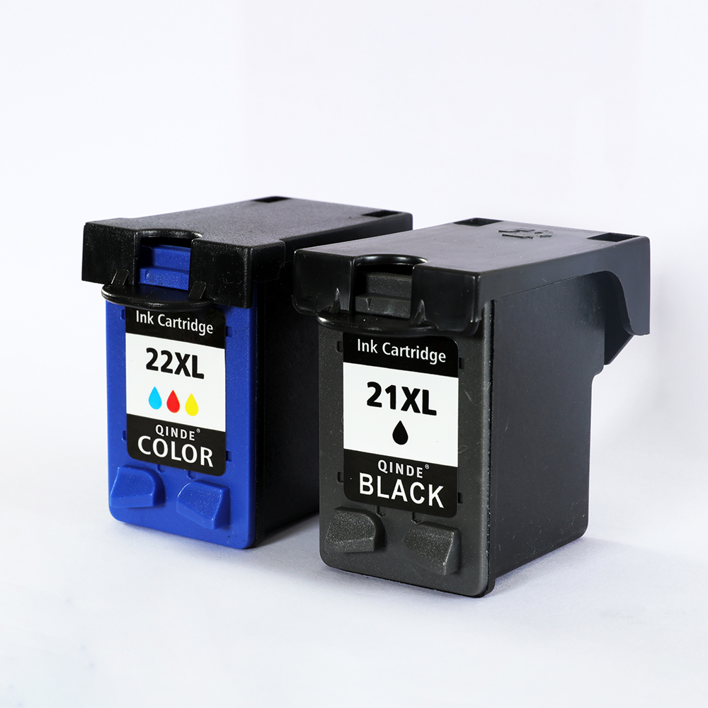 Qinde Refilled Ink Cartridge Replacement for hp 21 22 cartridge 21 and 22 for Deskjet 3915 3920 D1320 F2100 F2280 F4180 21 22X hwdid 21xl 22xl refilled ink cartridge replacement for hp 21 22 use for deskjet 3915 1530 1320 1455 f2100 f2180 f4100 f4180