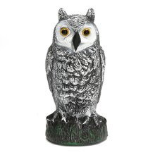 Wholesale Price Owl Decoy Figurines Statues Garden Protection Pest Repellent Bird Scarer Home Garden Ornament Crafts Sculptures(China)