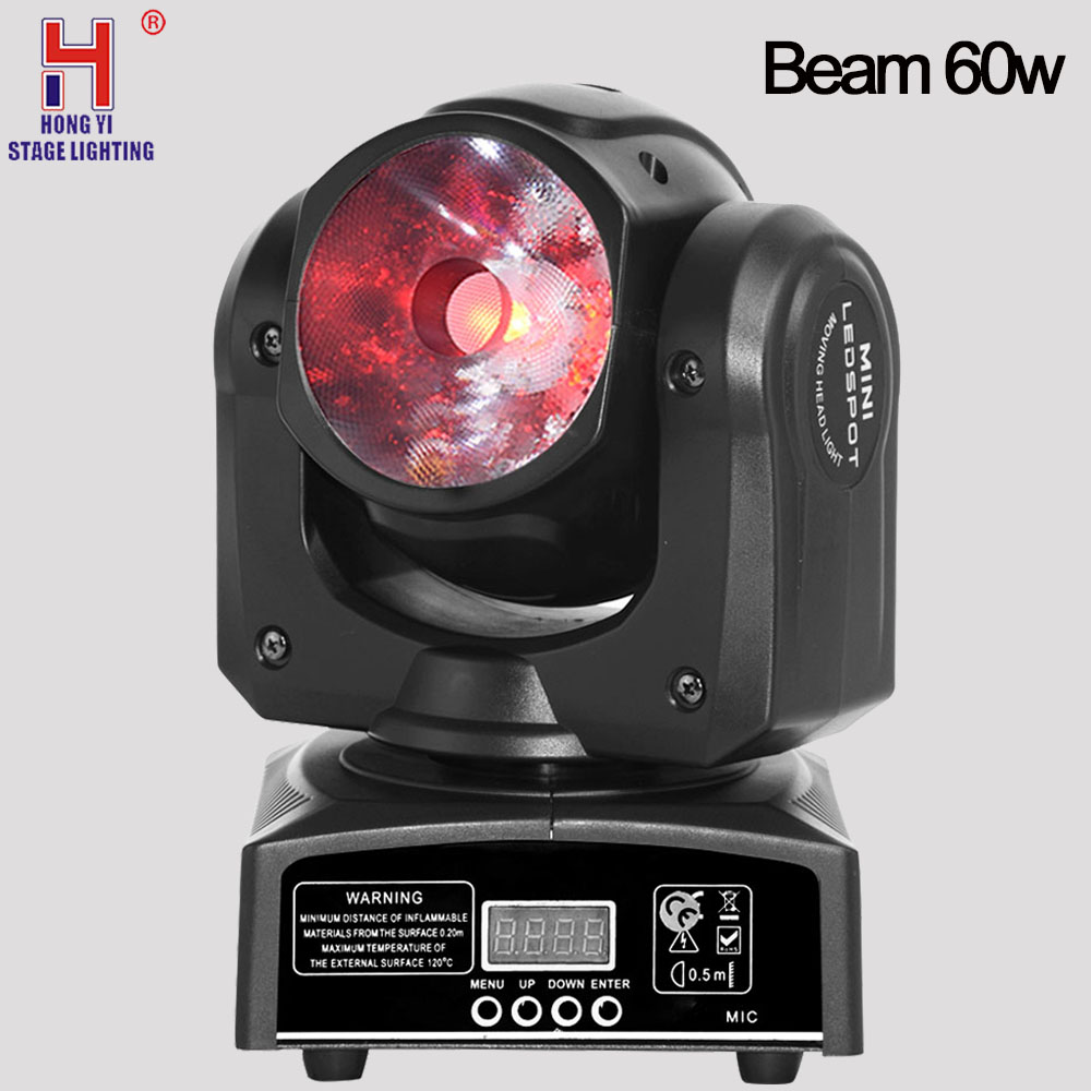 Moving head light mini Led 60w RGBW beam 10pcs lot