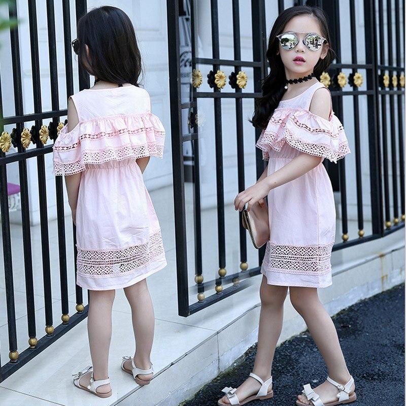 Baby girl dress 2017 yay Uşaqlar içi boş krujeva Princess Infantil - Uşaq geyimləri - Fotoqrafiya 3