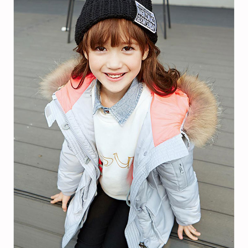 Mioigee 2017 New Girls Long Padded Jacket Children Winter Coat Kids Warm Thickening Hooded down Coats For Teenage Outwear new 2017 winter baby thickening collar warm jacket children s down jacket boys and girls short thick jacket for cold 30 degree