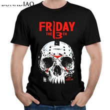 Friday The 13th Jason Tees Ngeri Film Jason Masker T Shirt Plus Ukuran Camiseta(China)